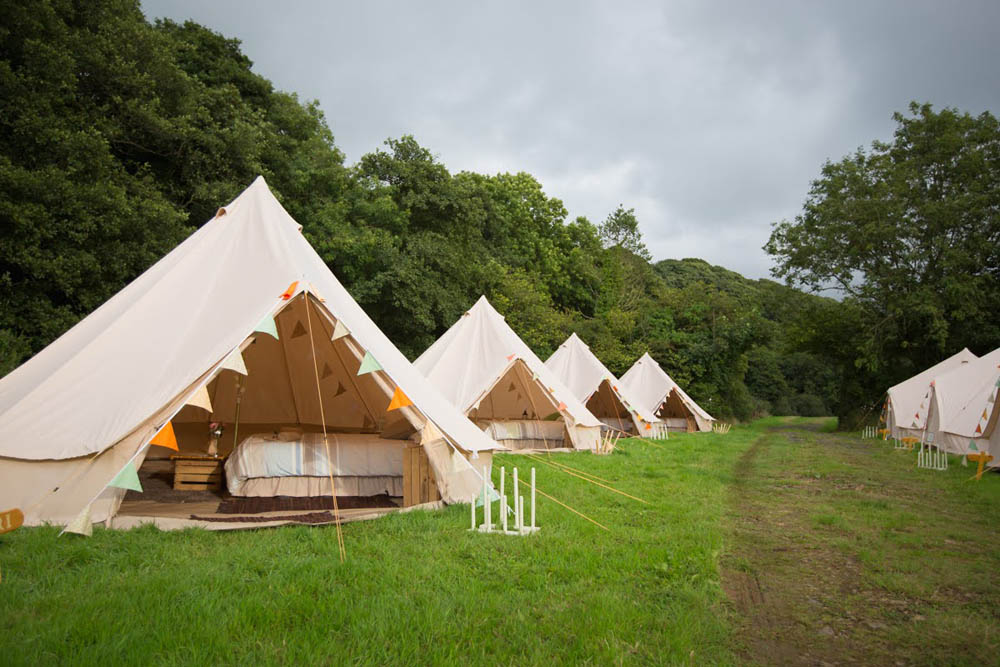 Glamping Bell Tent Village